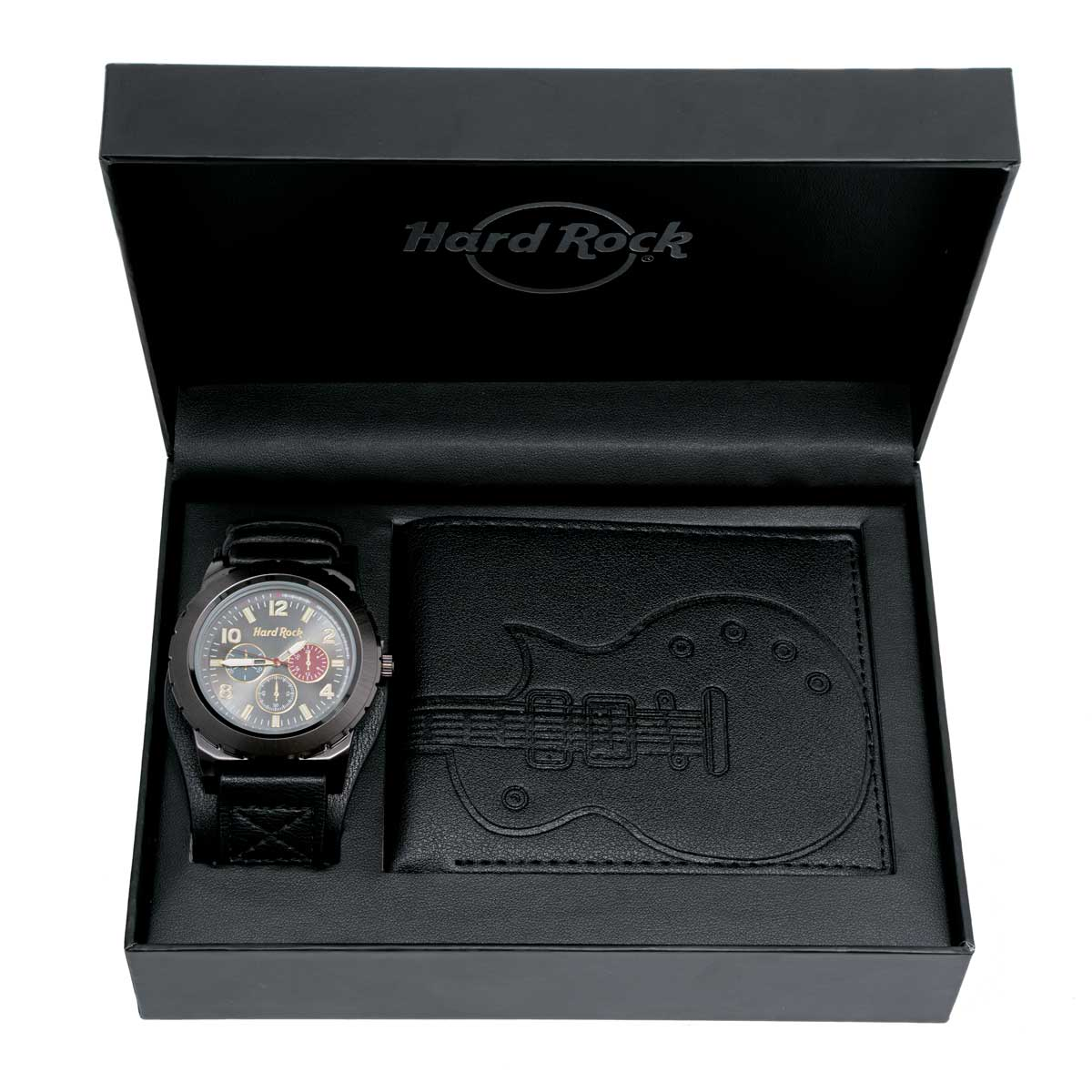 Men's Watch and Wallet Boxed Set Black