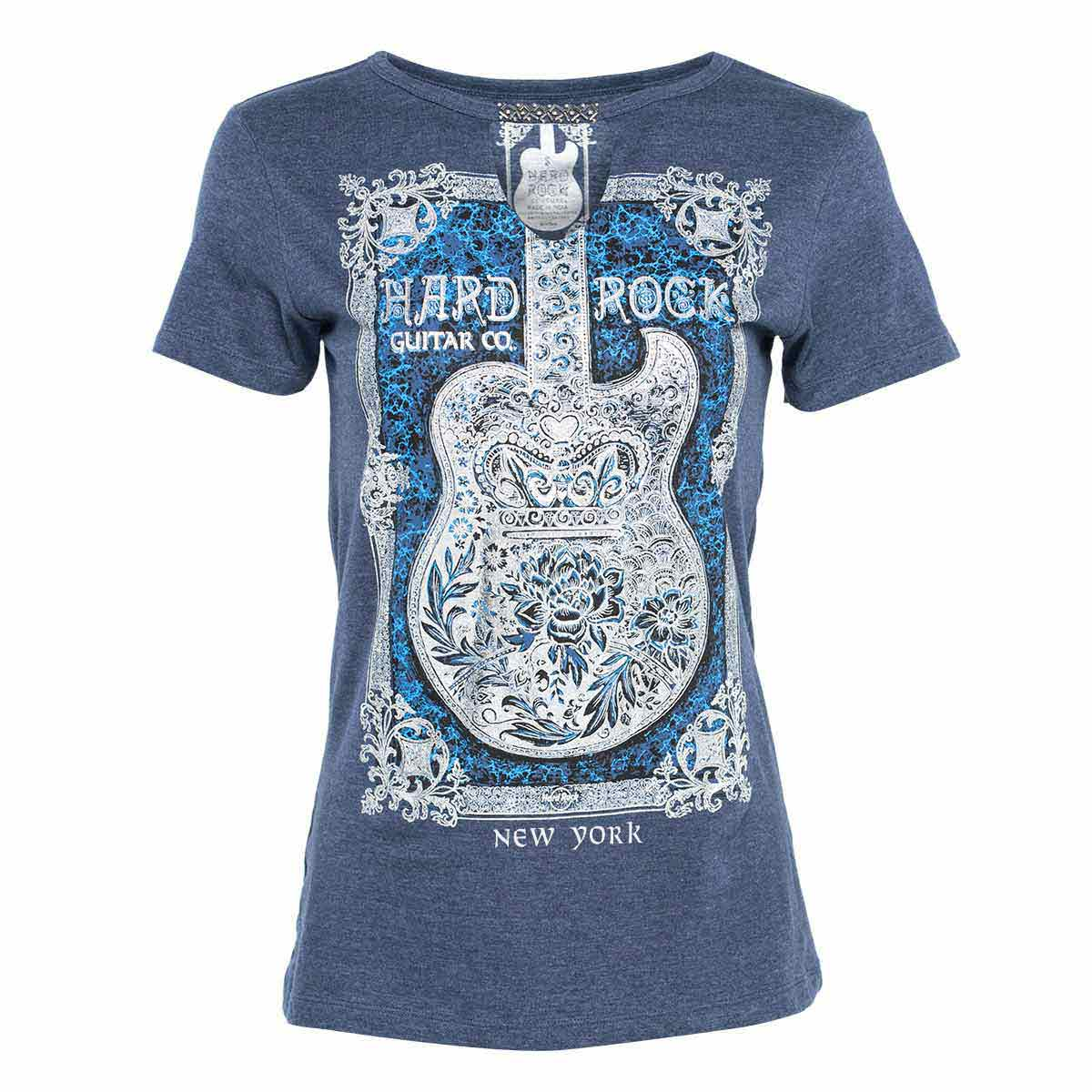 Women's Couture Framed Guitar Tee Blue
