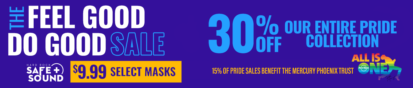 Hard Rock Mask and Pride sale