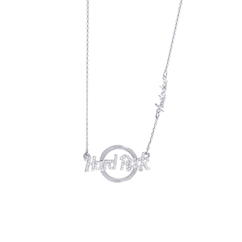 Silver Logo Pendant Necklace