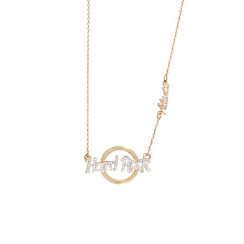 Gold Logo Pendant Necklace