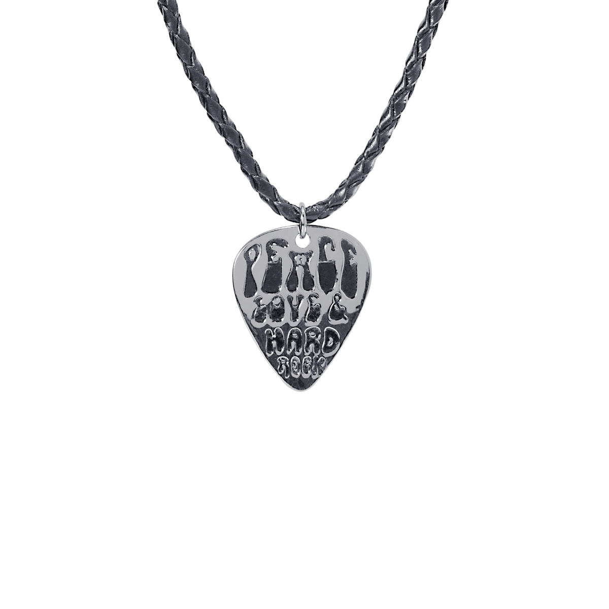 Leather Cord Guitar Pick Pendant Necklace