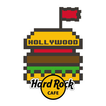 Hollywood 8 Bit Burger Pin