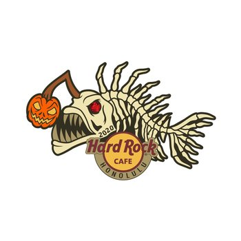 Honolulu Angler Skeleton Pin