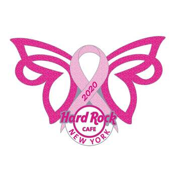 New York Pink Ribbon Butterfly Pin