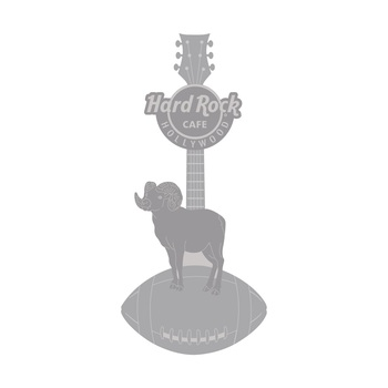 Hollywood 3D Ram and Football Guitar Pin