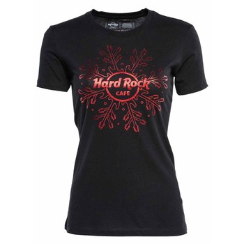 Women's Red Foil Snowflake Tee