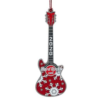 2020 Red Guitar Ornament