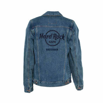 Unisex Denim Jacket with Raised Logo