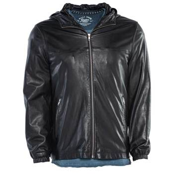 Men's LAMARQUE Leather Hooded Jacket