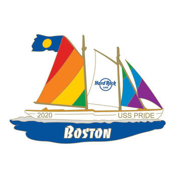 Boston 2020 Pride Sailboat Pin