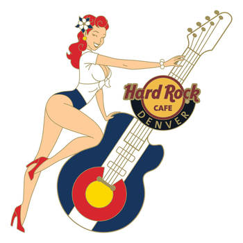 Denver Pin Up Guitar Pin