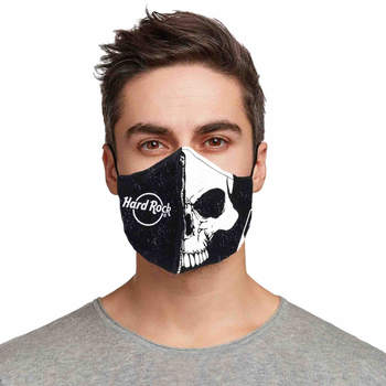 Skull and Logo Face Mask