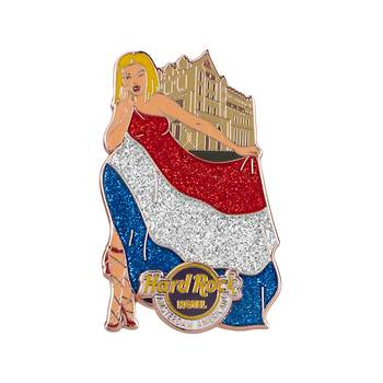Flag Landmark Girls Pin Amsterdam American