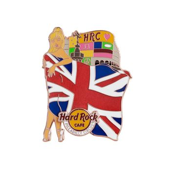 Flag Landmark Girls Pin Piccadilly Circus