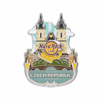 3D Country Icon Pin Czech Republic