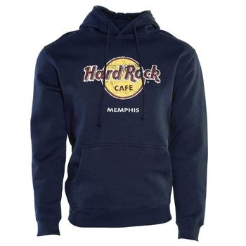 Unisex Classic Logo Pullover Hoodie Navy Blue
