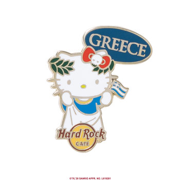 Hello Kitty Flag Pin Greece