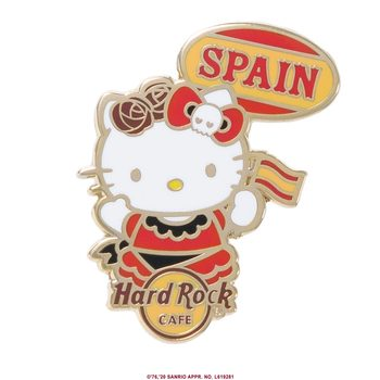 Hello Kitty Flag Pin Spain