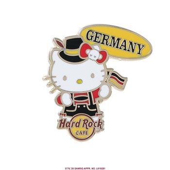 Hello Kitty Flag Pin Germany