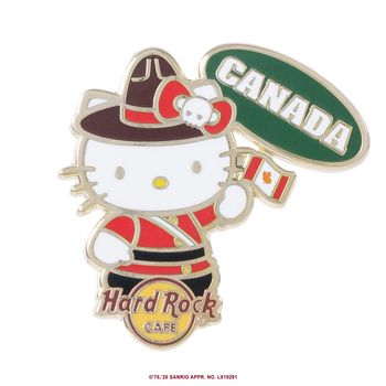 Hello Kitty Flag Pin Canada