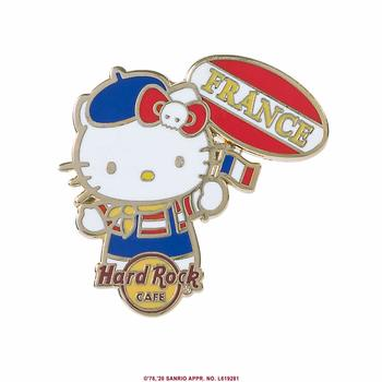 Hello Kitty Flag Pin France