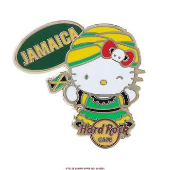 Hello Kitty Flag Pin Jamaica