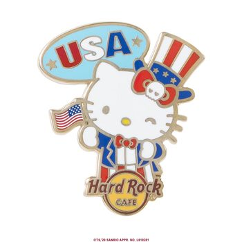 Hello Kitty Flag Pin USA