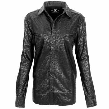 Women's Rock Roll 'n Soul Faux Leather & Lace Top