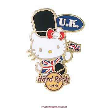 Hello Kitty Flag Pin UK