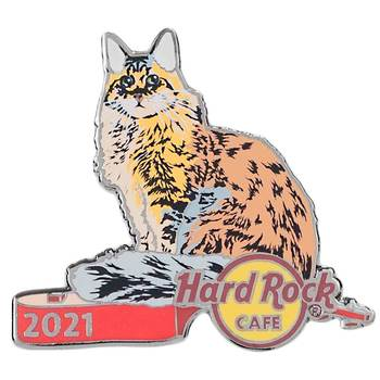2021 Cat & Guitar Series Maine Coon Pin