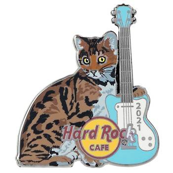2021 Cat & Guitar Series Bengal Pin