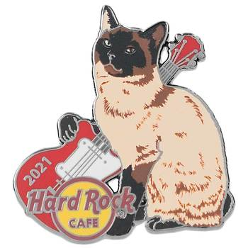 2021 Cat & Guitar Series Siamese Pin