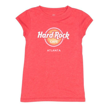 Girl's Logo Pigment Dye Scoop Neck Tee