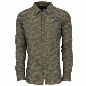 Men's Guitar Co. Camo Poplin Shirt