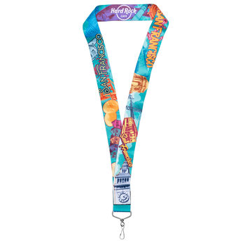 San Francisco City Art Lanyard