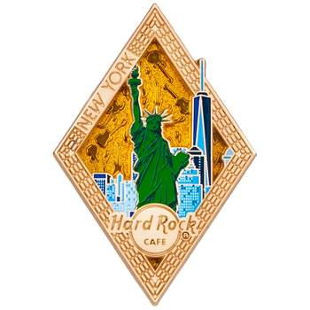Diamond Puzzle Series Pin New York