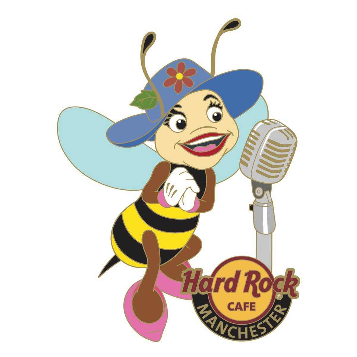 Manchester Bee Singer Pin