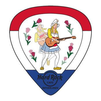 Lenticular Flag Guitar Pick Pin Netherlands