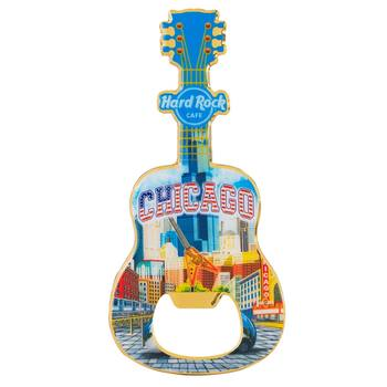 Country Colors City Bottle Opener Magnet