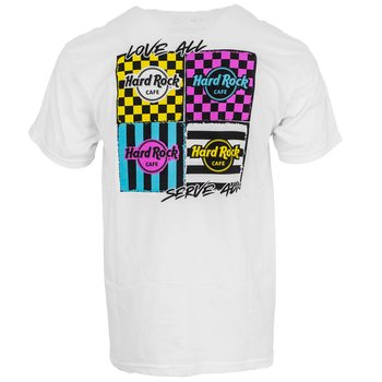 Men's Multi Logo Neon Checkered Tee