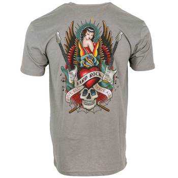 Men's Pin Up Guitar Wings and Skull Tee