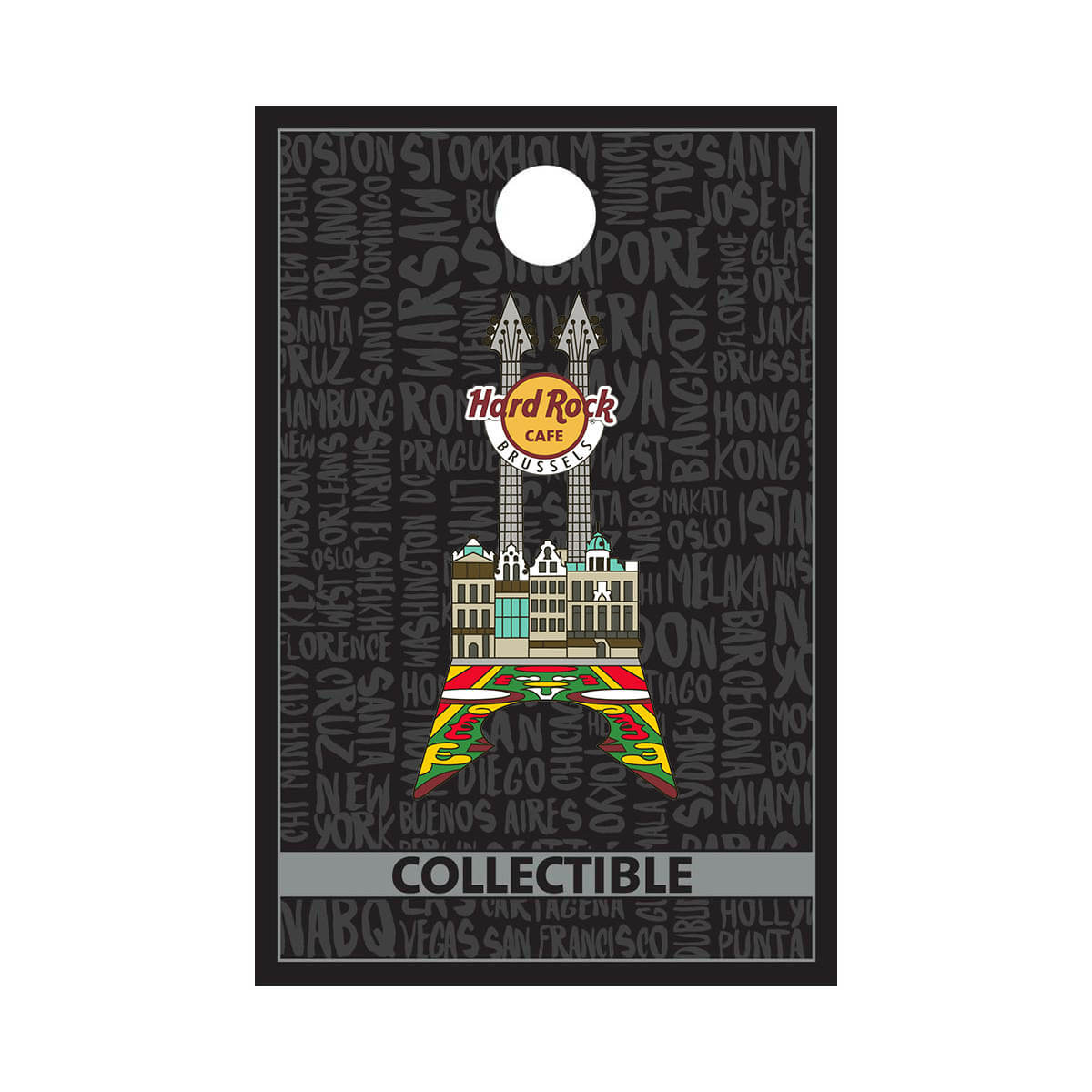 Brussels Grand Place Facade Guitar Pin