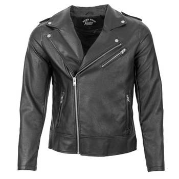 Men's Classic Faux Leather Moto Jacket