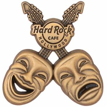 Hollywood 3D Comedy & Tragedy Masks Pin