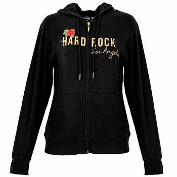 Women's Gold Foil & Roses Full Zip Hoodie