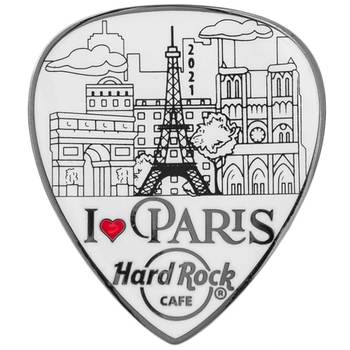 I Love Paris Guitar Pick Pin