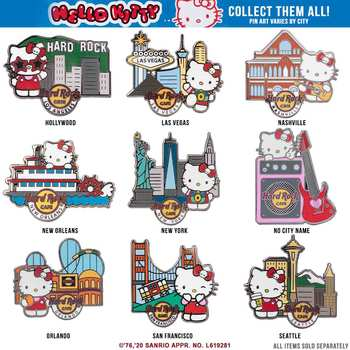 Hello Kitty Traveler Pin Series