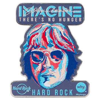 "John Lennon: ""Imagine There's No Hunger"" Pin"