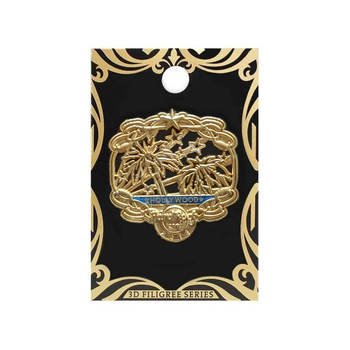 Gold Filigree Series Pin 2018